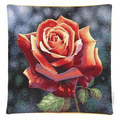 Housse de coussin 45x45 cm ADRANO Rose chatoyante - polycoton, acrylique