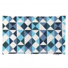 Housse de coussin 30x50 cm ANZO Eclats bleus et blancs - Polycoton