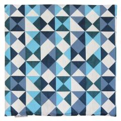 Housse de coussin 45x45 cm ANZO Eclats bleus et blancs - Polycoton