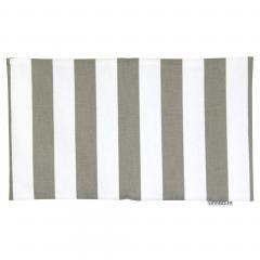 Housse de coussin 30x50 cm TAZZO Rayures beiges - 100% coton