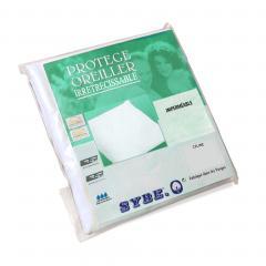 Housse de protection d'oreiller imperméable 60x60 cm Céline Blanc