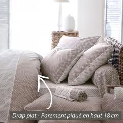 Drap plat ACTUEL FICELLE coton - 180x290 * DESTOCKAGE *
