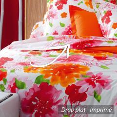 Drap plat 240x310 cm 100% coton - NINA FLOWER