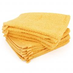 Lot de 12 gants de toilette 16x21 cm ALPHA jaune Or