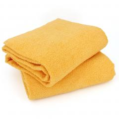 Lot de 2 draps de bain 90x150 cm ALPHA jaune Or