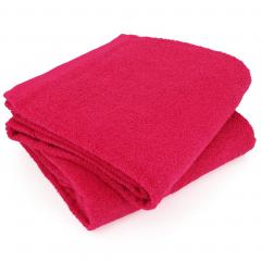 Lot de 2 draps de bain 90x150 cm ALPHA rose Fuschia
