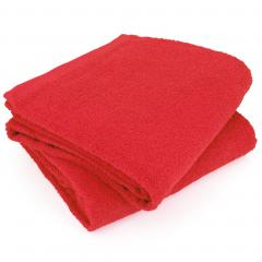 Lot de 2 draps de bain 90x150 cm ALPHA rouge