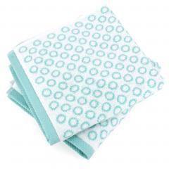 Lot de 2 serviettes de toilette 50x100 cm GRAPHIC CIRCLE bleu