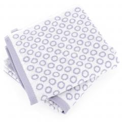 Lot de 2 serviettes de toilette 50x100 cm GRAPHIC CIRCLE violet