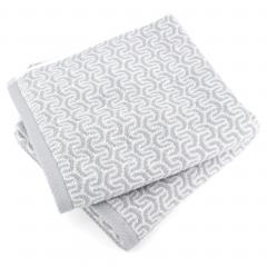 Lot de 2 serviettes de toilette 50x100 cm GRAPHIC HOOK gris