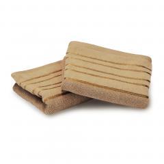 Lot de 2 serviettes invité 30x50 cm 100% coton 500 g/m2 FAJA Beige