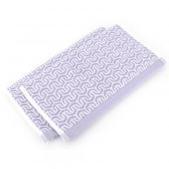 Lot de 2 serviettes invité 33x50 cm GRAPHIC HOOK violet