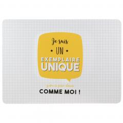 Lot de 2 sets de table JE SUIS Jaune