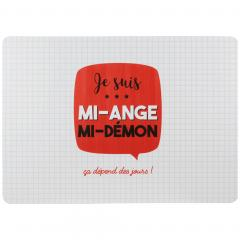 Lot de 2 sets de table JE SUIS Rouge