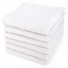 Lot de 6 serviettes de toilette 50x90 cm ALPHA blanc