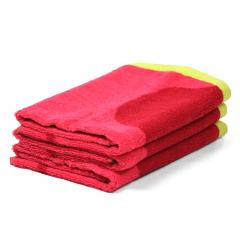 Lot de 3 torchons de cuisine 50x50 cm 100% coton 400 g/m2 CERISE - Rose et Vert
