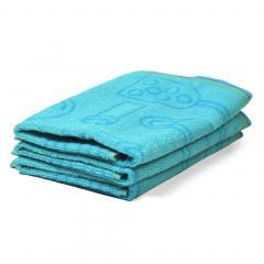 Lot de 3 torchons de cuisine 50x50 cm 100% coton 400 g/m2 MENU - Bleu