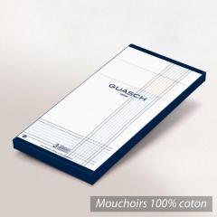 Lot de 3 mouchoirs Homme 43x43 cm Classic Blanc liserés de couleurs