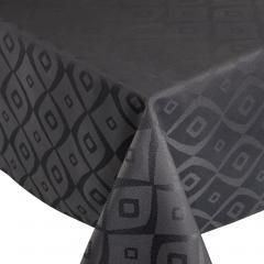 Nappe carrée 150x150 cm Jacquard 100% polyester BRUNCH anthracite