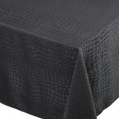 Nappe carrée 150x150 cm Jacquard 100% polyester LOUNGE noir