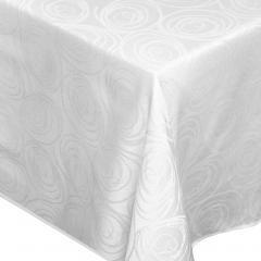 Nappe carrée 150x150 cm Jacquard 100% coton SPIRALE blanc