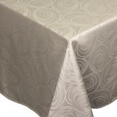 Nappe carrée 150x150 cm Jacquard 100% coton SPIRALE taupe