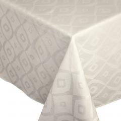 Nappe carrée 175x175 cm Jacquard 100% polyester BRUNCH ecru