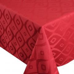 Nappe carrée 175x175 cm Jacquard 100% polyester BRUNCH rouge