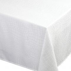 Nappe carrée 175x175 cm Jacquard 100% polyester LOUNGE blanc