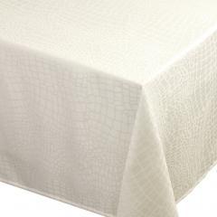 Nappe carrée 175x175 cm Jacquard 100% polyester LOUNGE ecru