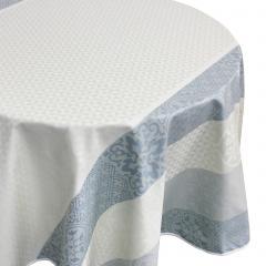 Nappe ovale 170x240 cm Jacquard 100% coton + enduction acrylique MOSAIC PERLE Gris