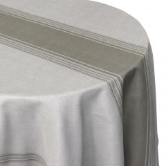 Nappe ovale 180x240 cm imprimée 100% polyester BISTROT Taupe