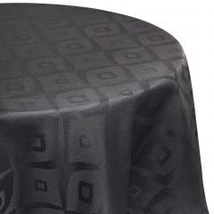 Nappe ovale 180x240 cm Jacquard 100% polyester BRUNCH anthracite