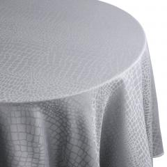 Nappe ovale 180x240 cm Jacquard 100% polyester LOUNGE perle