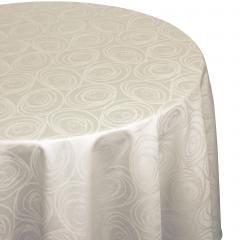 Nappe ovale 180x240 cm Jacquard 100% coton SPIRALE ecru
