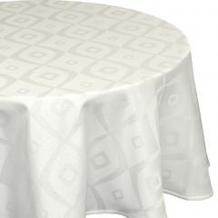 Nappe ovale 180x300 cm Jacquard 100% polyester BRUNCH ecru