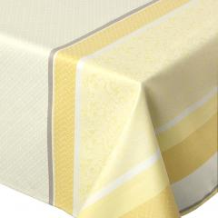 Nappe rectangle 150x250 cm Jacquard 100% coton + enduction acrylique EDEN SOLEIL Jaune