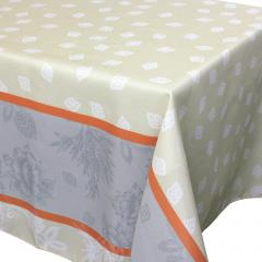 Nappe rectangle 150x250 cm imprimée 100% polyester GARRIGUE Florale ecru