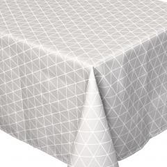 Nappe rectangle 150x250 cm imprimée 100% polyester PACO géométrique gris