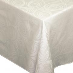 Nappe rectangle 150x250 cm Jacquard 100% coton SPIRALE ecru