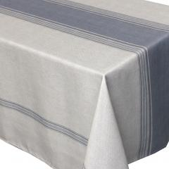 Nappe rectangle 150x300 cm imprimée 100% polyester BISTROT Gris
