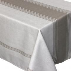 Nappe rectangle 150x300 cm imprimée 100% polyester BISTROT Taupe