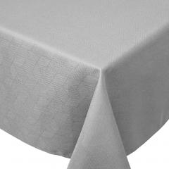 Nappe rectangle 150x350 cm Jacquard 100% coton CUBE gris Perle