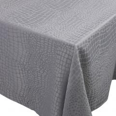 Nappe rectangle 150x350 cm Jacquard 100% polyester LOUNGE perle