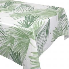 Nappe rectangle 160x200 cm OASIS vert 100% coton + enduction acrylique