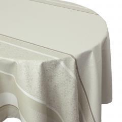 Nappe ronde 170 cm Jacquard 100% coton + enduction acrylique EDEN FICELLE Ecru