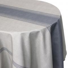 Nappe ronde 180 cm imprimée 100% polyester BISTROT Gris