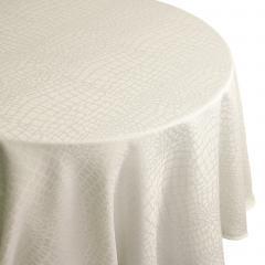 Nappe ronde 180 cm Jacquard 100% polyester LOUNGE ecru