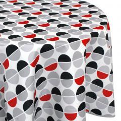 Nappe ronde 180 cm imprimée 100% polyester SMILE