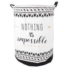 Panier à linge 63L blanc Nothing is impossible